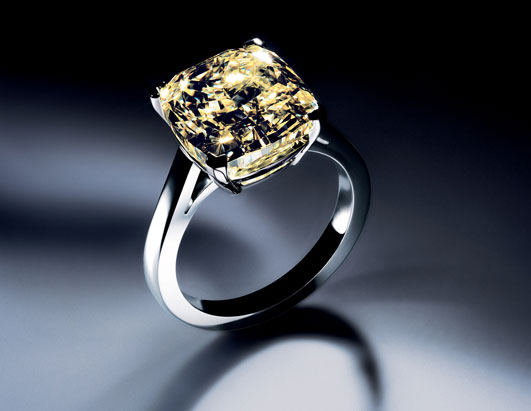 Platinum yellow diamond rings.