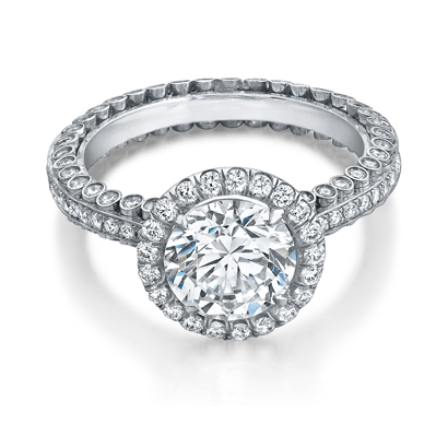 For a similar ring as Richie's, check out this engagement ring by Danhov