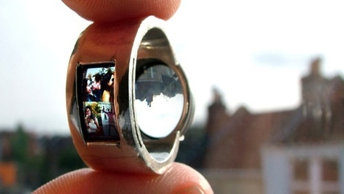 weird unique wedding ring has builtin projector