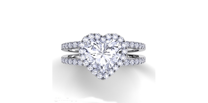 danhov heart shaped engagement ring