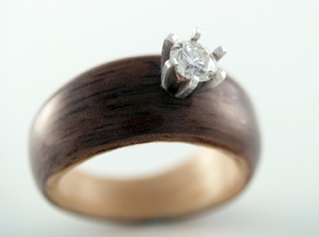 wood ring 6 - Wood Wedding Ring