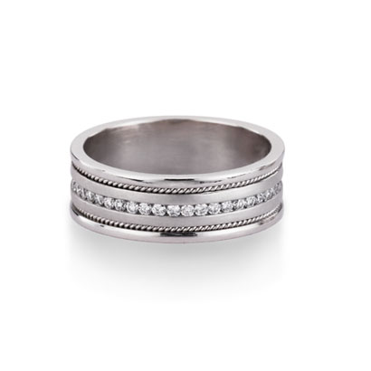Male wedding bands often tote elegance but with a masculine simplicity