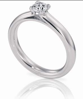 small_solitaire engagement ring - Small Wedding Rings