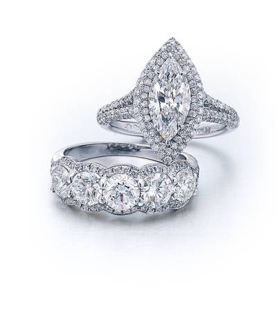 star wedding rings