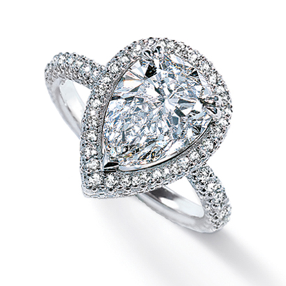 michael b engagement ring - Pear Shaped Wedding Ring