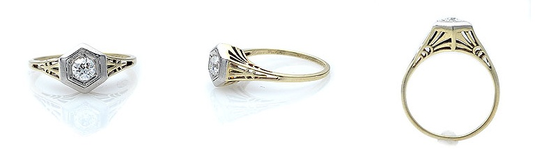 1920 art deco engagement ring - 1920s Wedding Rings