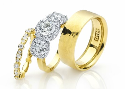 Nice TrioComposition Nikki Reed Engagement Ring Wedding Band