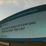 Your Love Note on a Billboard with Robbins Brothers!!