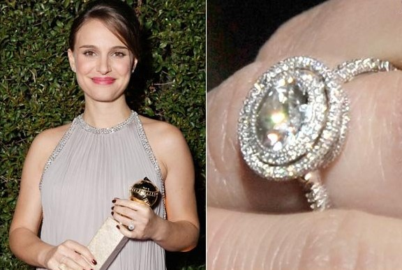 natalie portman engagement ring trend square - Giuliana Rancic Wedding Ring
