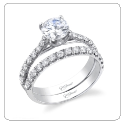 coast diamonds wedding set ring