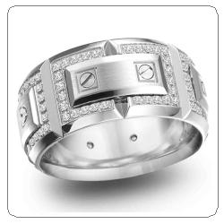 crown ring man wedding band