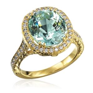 John Apel Engagement Ring Aquamarine