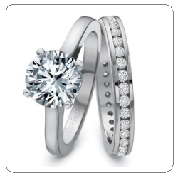 precision set wedding engagement ring