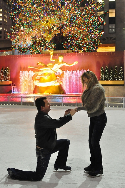 proposal on ice rockefeller center nyc