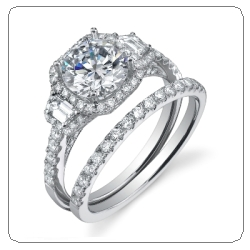sylvie collection engagement ring wedding set