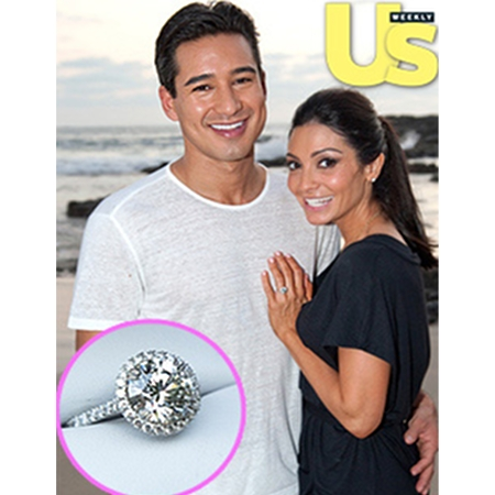 Mario Lopez & Courtney Mazza engagement ring