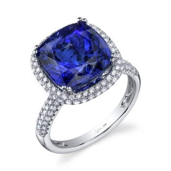 sylvie collection engagement ring blue