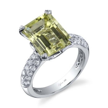 sylvie collection engagement ring green