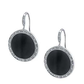 sylvie earrings bridal black