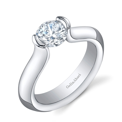 prongs that are too chunky or too numerous can actually make a diamond appear smaller than it is if you have a smaller diamond look for settings with more - Small Wedding Rings
