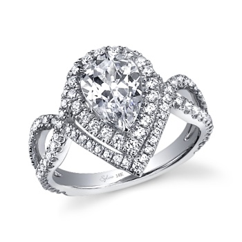 pear diamonds - Teardrop Wedding Rings