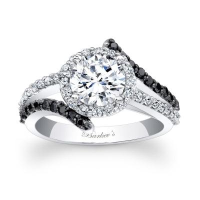 black and white diamond engagement rings - Black And White Diamond Wedding Rings
