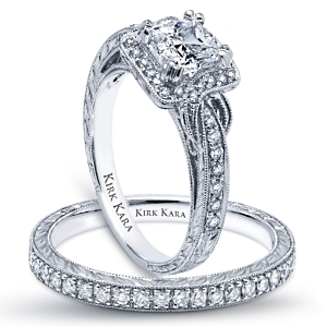 The Pirouette An Homage To French Word For Twirl Kirk Kara Engagement Ring Collection Includes Hand Engraved Rings And Wedding Bands With