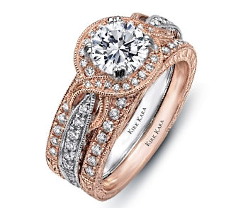 The XO Kirk Kara Wedding Ring Collection Includes Romantic Details Hand Engraved On Shanks Such As Millgrain And Diamond Hearts