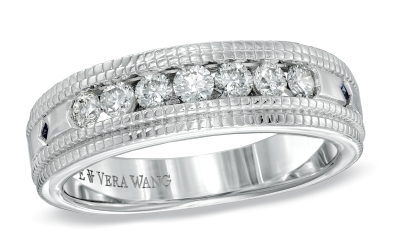 vera wang introduces mens bands as part of the vera wang love collection which includes four diamond wedding bands perfectly suited for the sophisticated - Vera Wang Wedding Ring