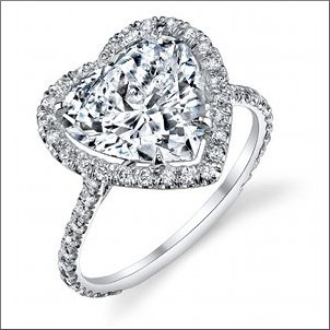 top 8 heart shaped engagement rings of 2012 - Heart Shaped Wedding Rings