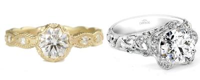 Bohemian Wedding Rings
