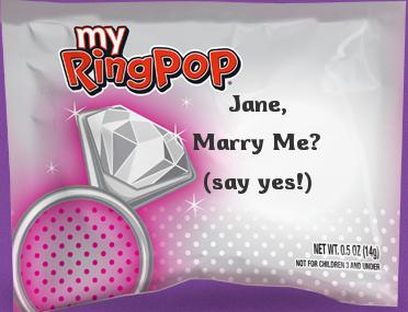 Ring Pop Proposal
