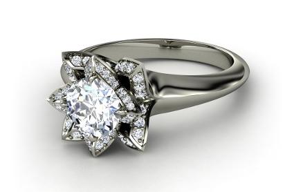 1 05 Carat Moissanite D E F Color Engagement Ring 14kt White Gold Trek Quality Wedding Halo 7586