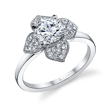 New Sylvie Collection Floral Engagement Rings Engagement 101
