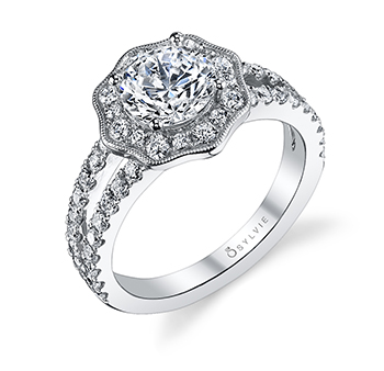 New Sylvie Collection Floral Engagement Rings