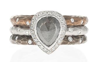 Pamela Froman Alternative Engagement Ring and Wedding Band