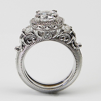 New Renaissance Engagement Rings By G&g Creations. Girl Name Engagement Rings. Cool Engagement Rings. October 1 Wedding Rings. Diamond Square Engagement Rings. Large Single Diamond Wedding Rings. $50000 Engagement Rings. Lemon Engagement Rings. Trillion Rings