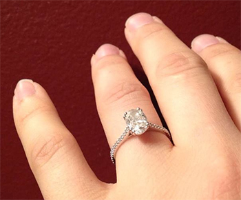 1 Carat Oval Engagement Rings Ringscladdagh