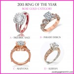 Cast Your Vote: Rose Gold Engagement Ring of the Year