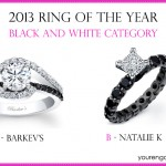 Cast Your Vote: Black and White Engagement Ring of the Year