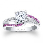 Blue and Pink Sapphire Engagement Rings