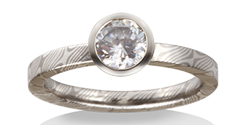 Also Features Amazing Wedding Bands With Fancy Colors And Unique Patterns We Love The Lines Made Of White Gold Red Silver Ring Below
