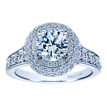 straight engagement ring dane amavida platinum round rings gabriel