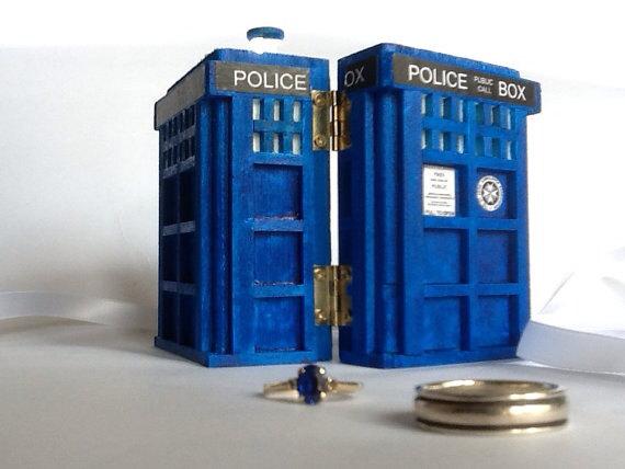 Tardis Wedding Ring Box Tardis Ring Box