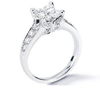 the calla diamond engagement ring above features a special butterfly inspired diamond cut for a lot of sparkles below this elegant artcarved engagement - Butterfly Wedding Rings