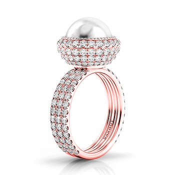 Danhov 30th Anniversary Pearl and Rose Gold Bridal Collection