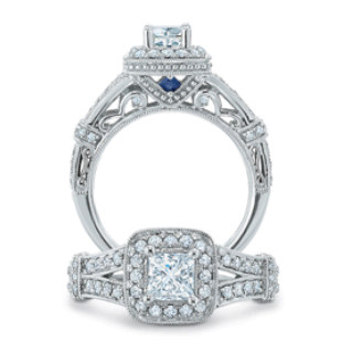 A Secret Touch of Blue for Your Engagement Ring