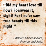 Proposing like Shakespeare