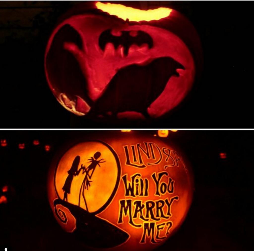 Proposing With Pumpkins
