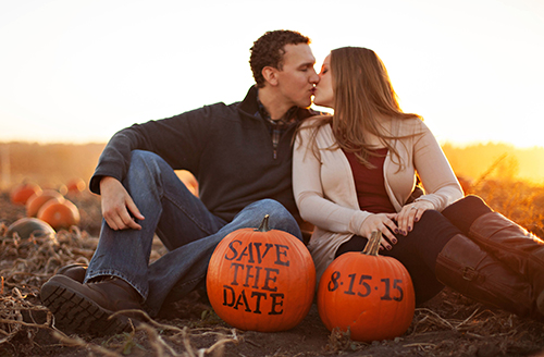 He Carved His Proposal in a Pumpkin